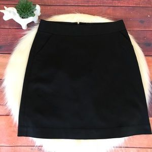 Banana Republic Skirt Size 6 Stretch Black Pockets